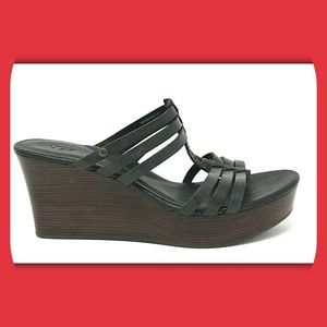 UGG Shoes - UGG Stacked Wedge Strappy Sandals